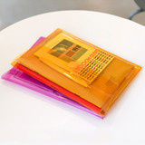 Example of use - Seeso Neon A5 clear file folder pouch