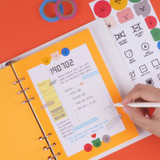 Example of use - Rihoon Neon laundry hardcover 6-ring grid notebook