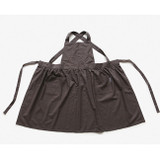 Dailylike Shadow gray frill linen cross back apron