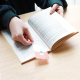 Example of use - Bookfriends Reading pet PVC clear bookmark