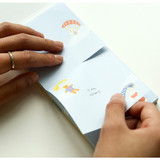 Example of use - Dailylike Travel animal two way memo writing notepad