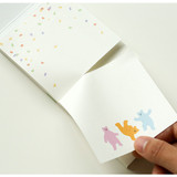 Example of use - Dailylike Jelly bear two way memo writing notepad
