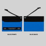Blue - BNTP Today flat card pocket case holder