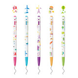 Detail of MONAMI 153 travel knock retractable ballpoint pen set