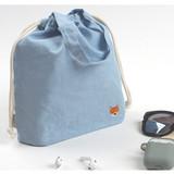Shiba dog - Wanna This Tailorbird embroidered medium drawstring pouch