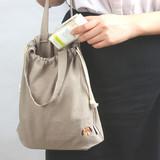 Beagle - Wanna This Tailorbird embroidered medium drawstring pouch