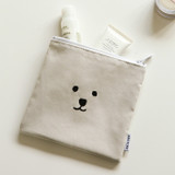 Example of use - Dailylike Embroidery rectangle fabric zipper pouch - Face