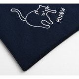 Cute pouch - Dailylike Embroidery rectangle fabric zipper pouch - Miaow