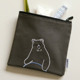 Usage example - Dailylike Embroidery rectangle fabric zipper pouch - Hula hoop bear