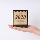 Wanna This 2020 Classic small spiral bound desk calendar