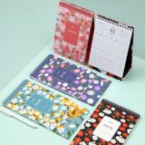 Ardium 2020 Flowery small desk flip monthly calendar