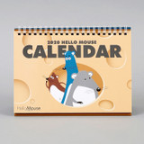 Chachap 2020 Hello mouse monthly desk calendar