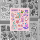 Ardium Pop illustration colorful point paper sticker ver3