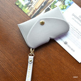 Gray - Play Obje Lovely heart pocket card case holder with strap