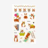 Daily transparent deco cute sticker - Welsh corgi