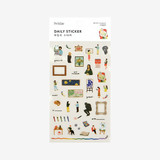 Package for Daily transparent deco cute sticker - Art museum