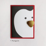 Penguin - DBD Cute Christmas card with envelope