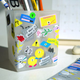 Usage example - After The Rain 8-bit message seal paper sticker