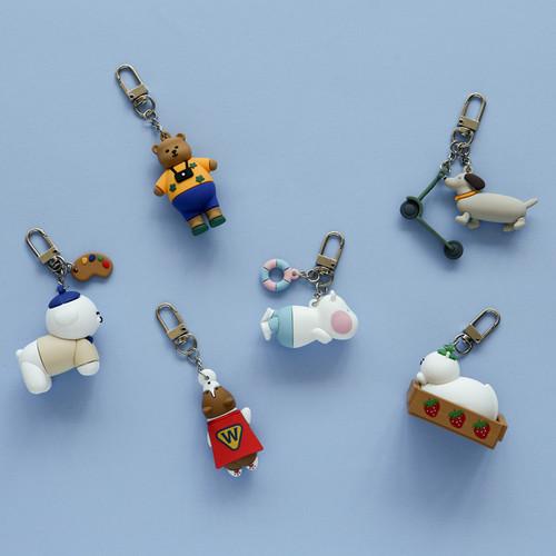 Dailylike Toy PVC keyring keychain