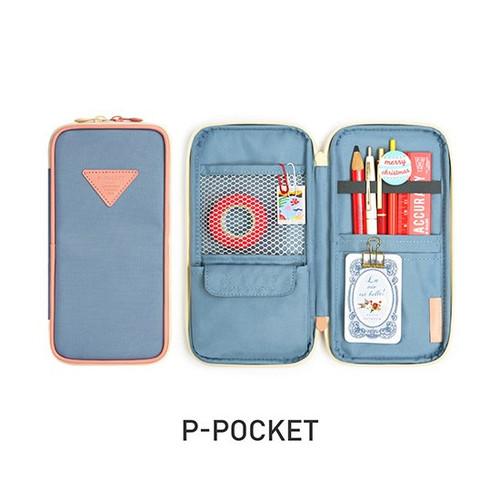 Monopoly P pocket zipper pencil case pouch