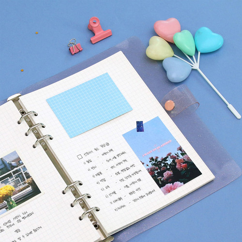 Second Mansion Grid 6-ring A5 size planner notebook refill
