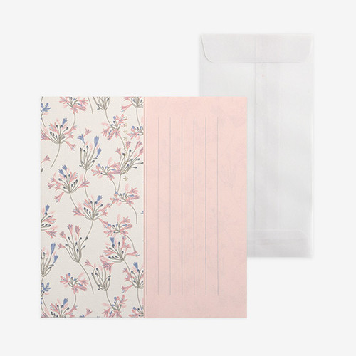 Dailylike Mind pattern letter with envelope set-African Lily