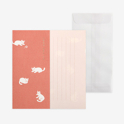 Dailylike Mind pattern letter with envelope set - Kitten
