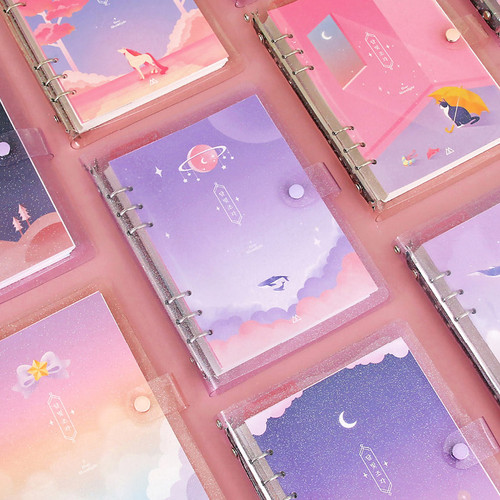 Twinkle moonlight A5 6-ring dateless weekly diary planner