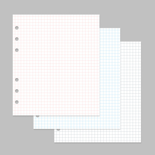 2NUL Cherry pick 6-ring planner grid note refill