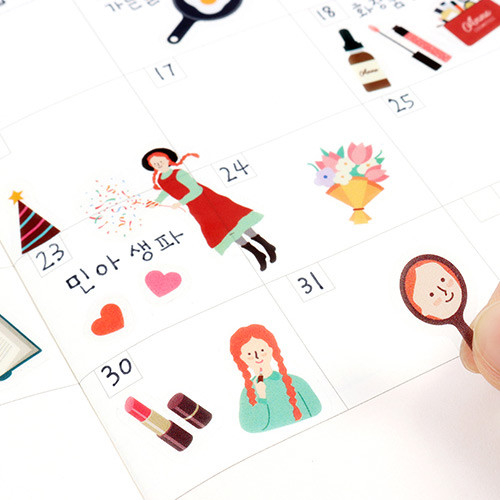 Bookfriends Anne of green gables deco clear sticker