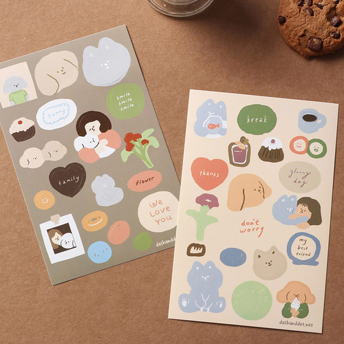 Dash And Dot Dear my besty deco paper sticker