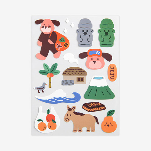 Dailylike Jeju removable paper deco sticker