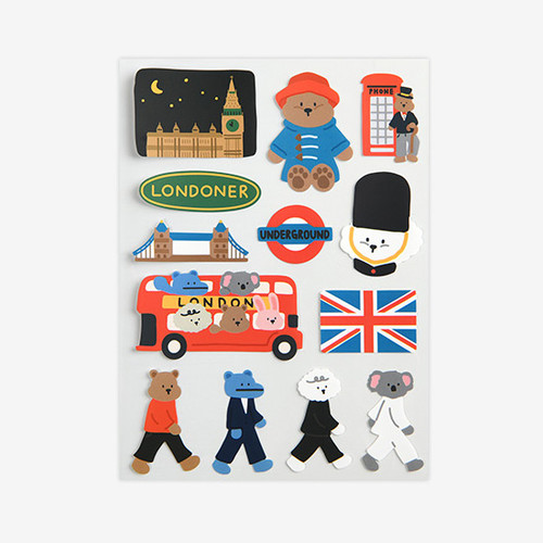 Dailylike London removable paper deco sticker