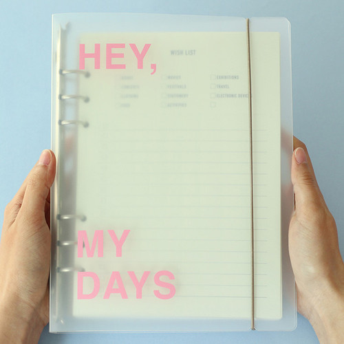 PAPERIAN Hey my days A5 size 6 ring translucent binder