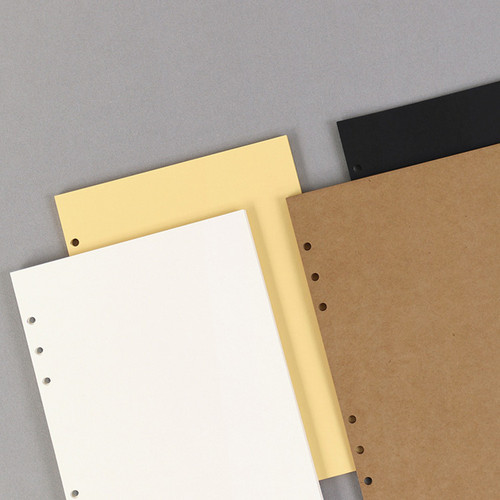 PAPERIAN Paper board 6-ring A5 size blank notebook refill