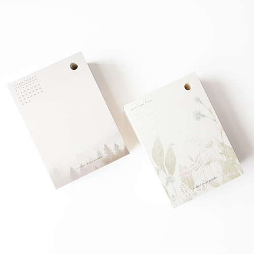 O-CHECK 365 daily single hole punched memo notepad