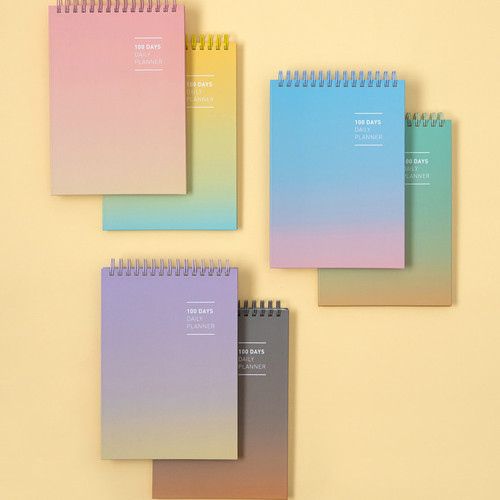 Ardium Gradation 100days spiral undated daily study planner
