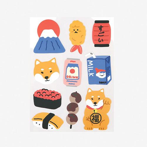 Dailylike Tokyo shiba removable paper deco sticker