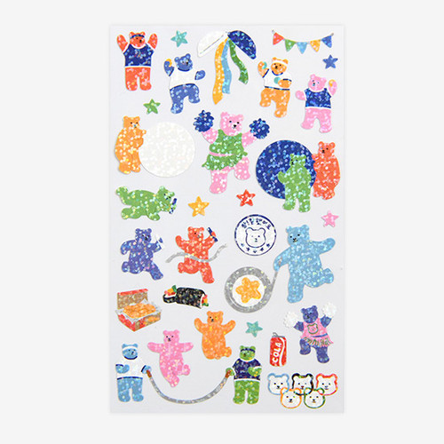Dailylike Jelly bear field day hologram removable sticker