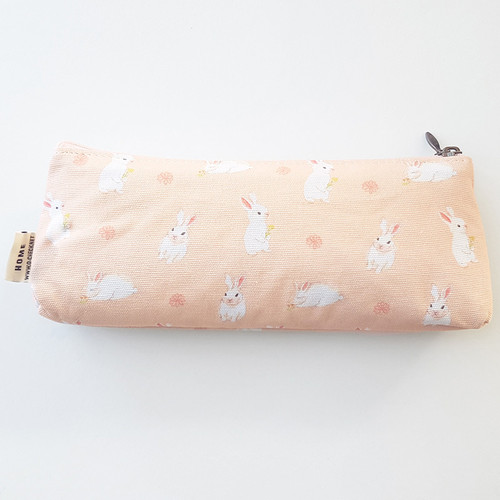 O-CHECK Rabbit cotton zipper pencil case pouch