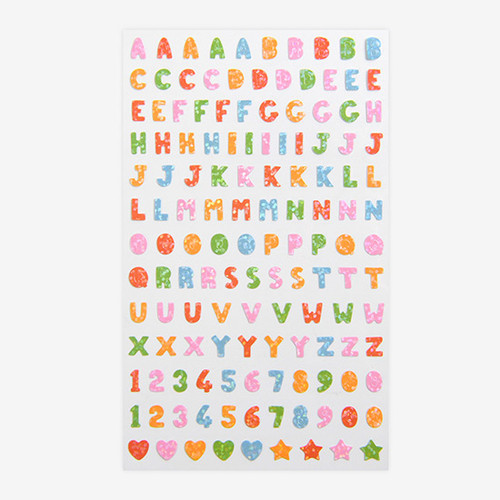Dailylike Alphabet hologram removable sticker
