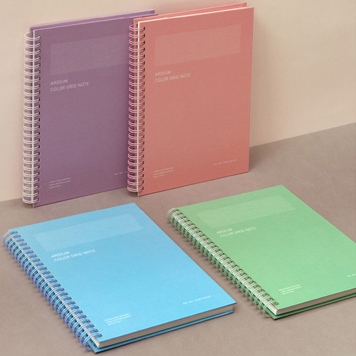 Ardium Color spiral grid notebook 126 pages