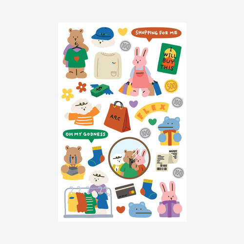 Dailylike My buddy shopping removable paper sticker