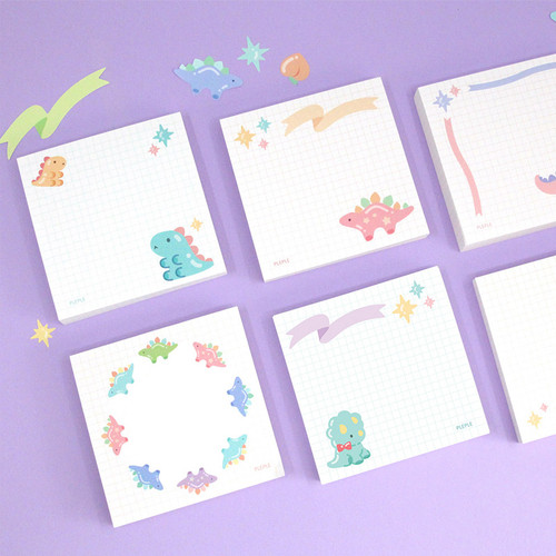 PLEPLE Bubble dino memo notes notepad