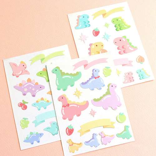 PLEPLE Bubble dino removable decorative paper sticker