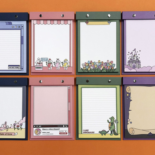 Ardium Color point A5 snap memo quadrille notepad