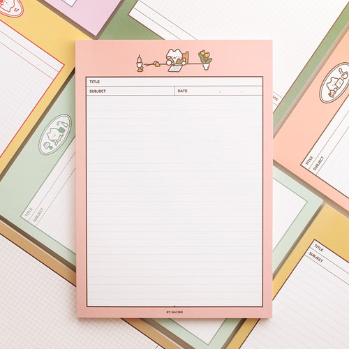 Annyang B5 size lined and grid notes memo notepad