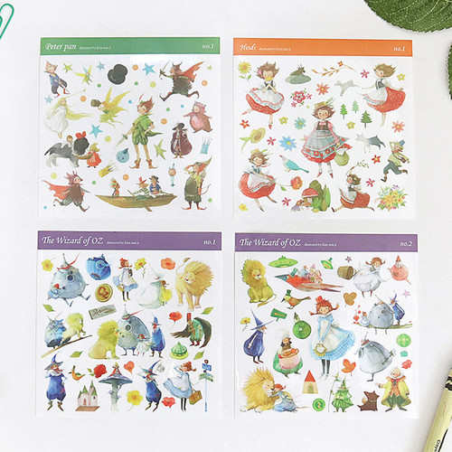 OZ Peter pan Heidi self-cut clear sticker