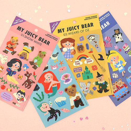 Project fairy tale my juicy bear removable sticker