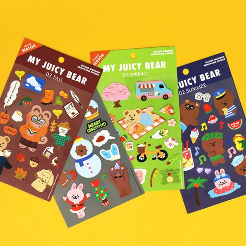 Project season my juicy bear removable sticker